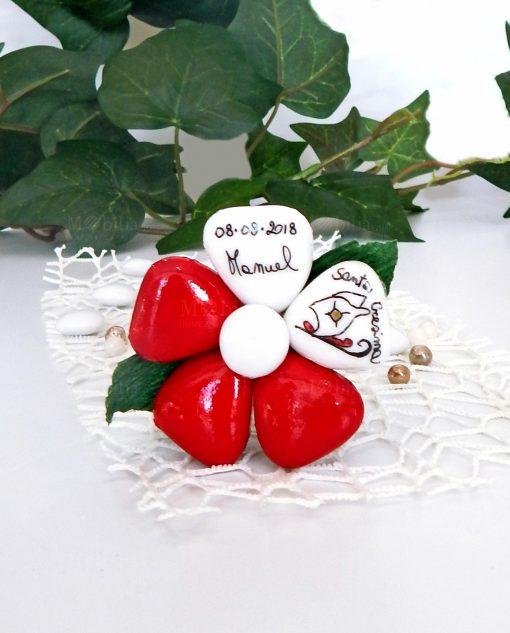 fiore di confetti di sulmona personalizzato con scritta