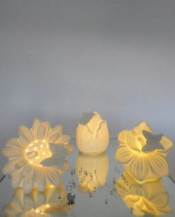 fiori con luce led assortiti per bomboniere