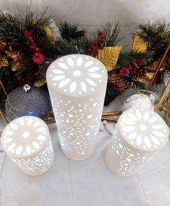 lampada a led cilindrica in porcellana varie misure cuorematto