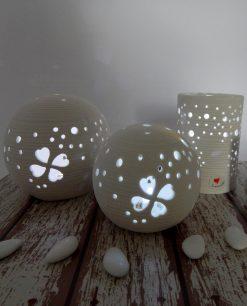 lampada led in porcellana cuorematto