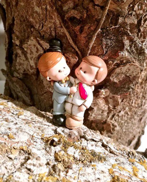 magnete coppia sposini uomini per bomboniere