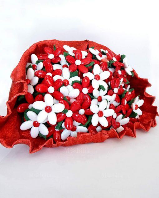 mazzo di fiori di confetti con stelo sulmona per allestimenti