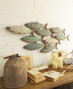 pannelli decorativi pesci effetto antichizzato