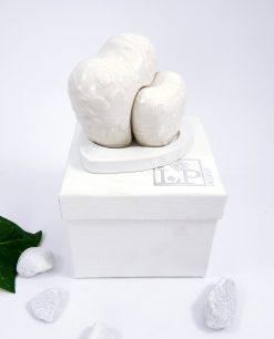 sale e pepe in porcellana bianca con scatola per bomboniere