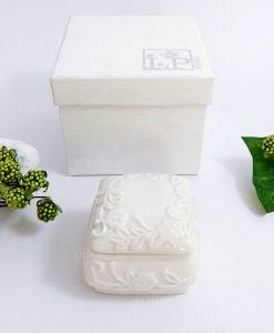 scatolina in porcellana decorata con scatola per bomboniere fai da te