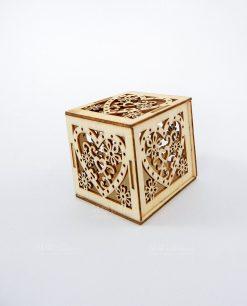 scatolina portaconfetti legno cuore