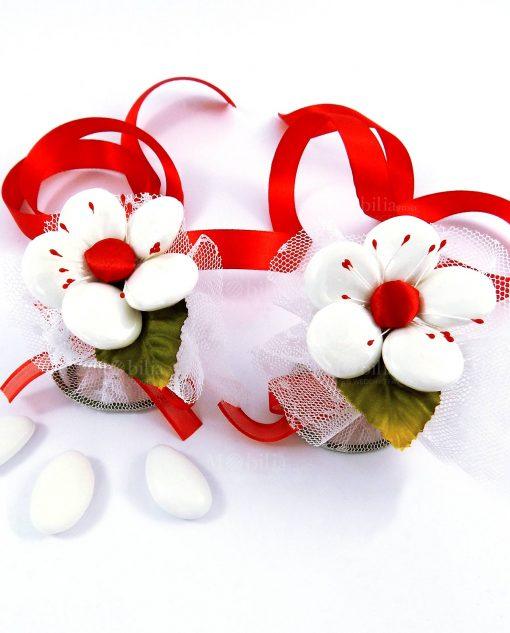 segnaposto fiore di confetti sulmona