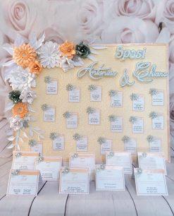 tableau mariage fiori realizzati a mano