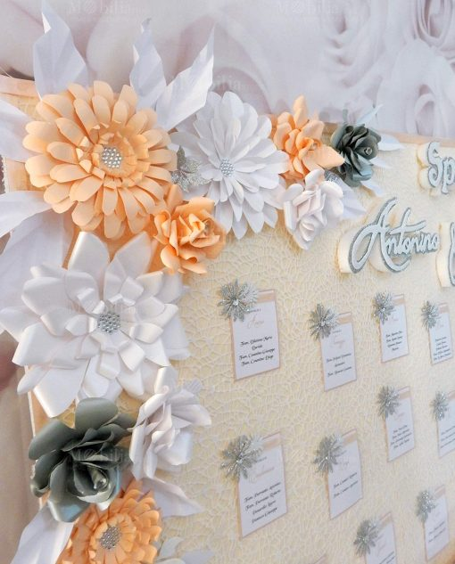 tableau matrimonio con fiori