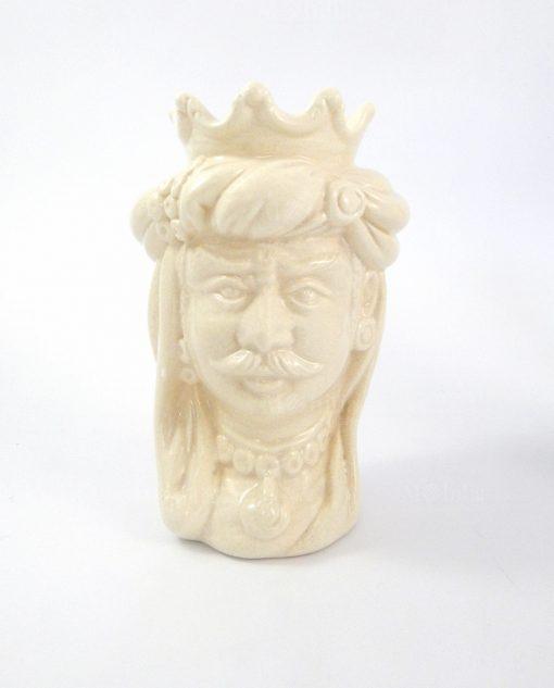 testa di moro re in ceramica artigianale di caltagirone