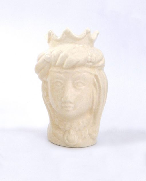 testa di moro regina con corona in ceramica artigianale di caltagirone