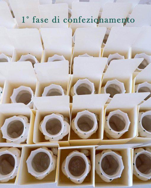 teste di moro in ceramica di caltagirone bianca con decori verdi