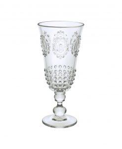 bicchiere da liquore trasparente decori barocchi