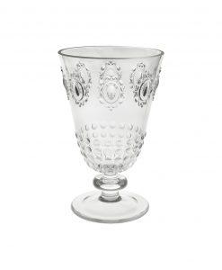 bicchiere per acqua stile barocco