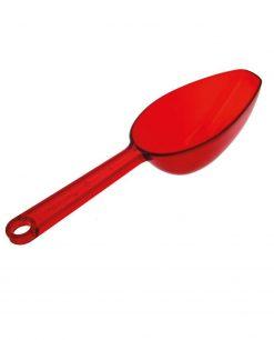 cucchiaio sassola plastica rosso