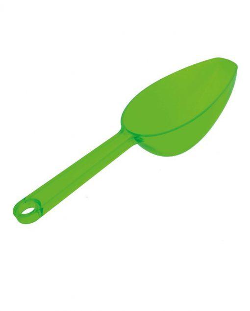 cucchiaio sassola plastica verde