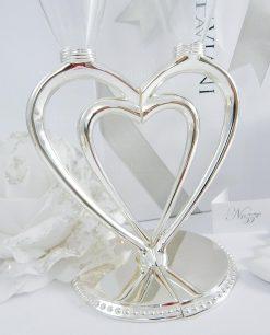 flute cuore in cristallo ottaviani