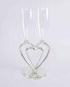 flute in cristallo ottaviani cuore a cuore