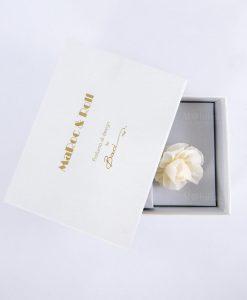 profumatore 100 ml con fiore carta di gelso e scatola bianca baci milano maro e roll