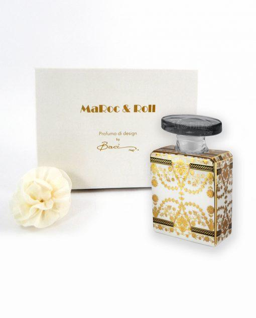profumatore ambiente bottiglia debbie porcellana da 100 ml con fiore e scatola baci milano