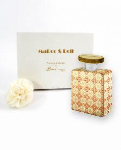 profumatore ambiente bottiglia elvis porcellana da 100 ml con fiore e scatola baci milano