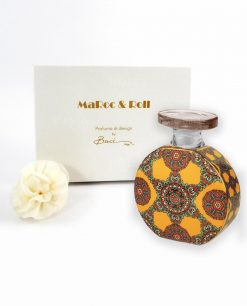 profumatore ambiente bottiglia sophie 100 ml con fiore e scatola baci milano maroc e roll foulard