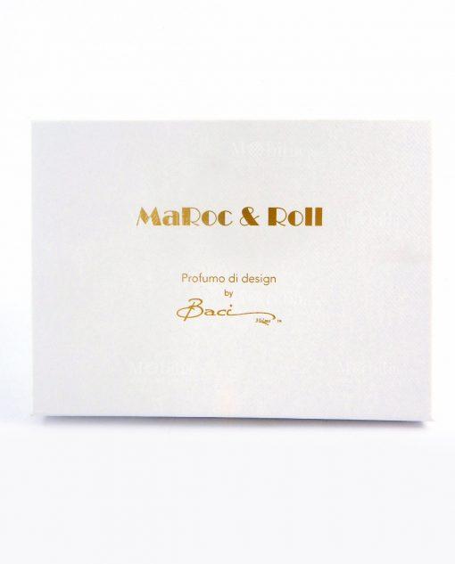 scatola cartoncino bianco maroc e roll baci milano
