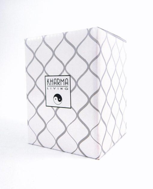 scatola cartoncino con rombi grigi kharma living