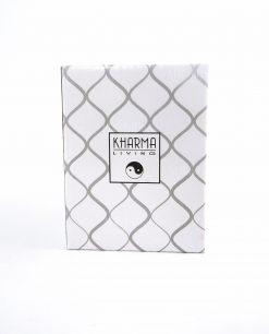 scatola kharma cartoncino bianco con rombi grigi