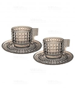 set 2 tazzine da caffè acrilico tortora