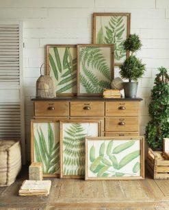 stampa foglie verdi set 6 pezzi