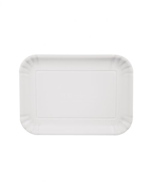vassoio bianco con bordi smerlati