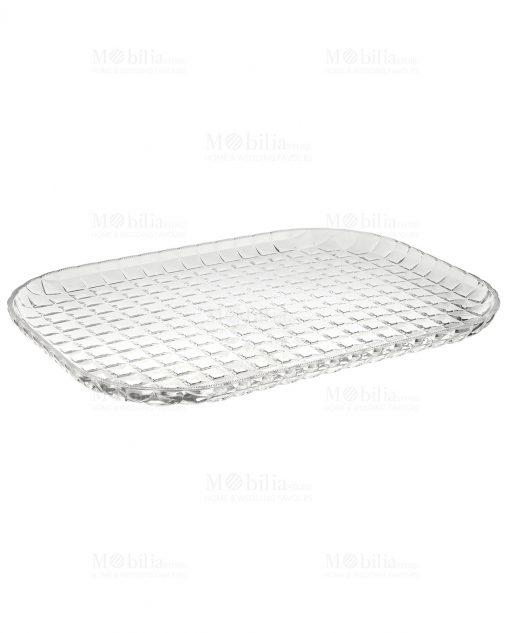 vassoio in acrilico lavorato trasparente