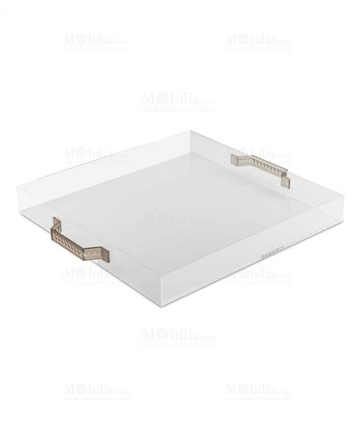 vassoio quadrato in plexiglass