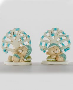 albero della vita azzurro con orsetto