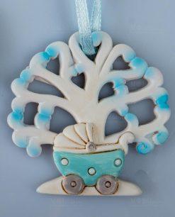 appendino albero della vita carrozzina azzurra