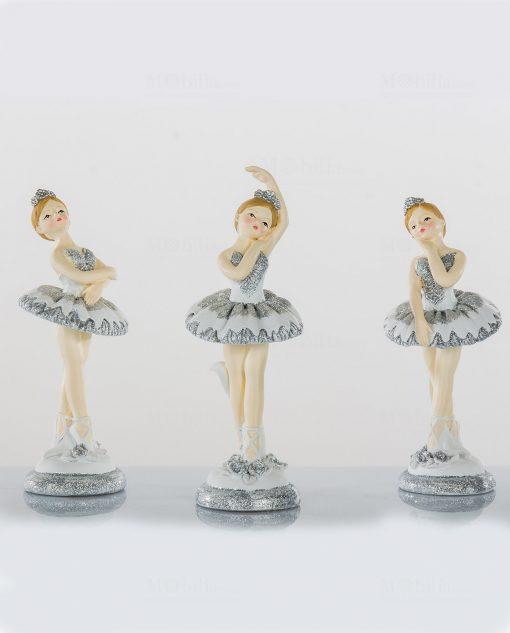 ballerina con tutù bianco argento