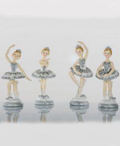 ballerine con tutù grigio 4 posizioni