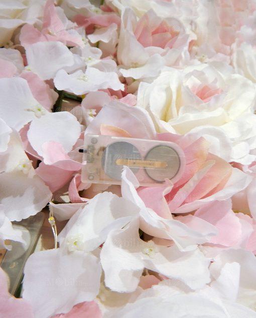 batteria per luci a led pannello fiori ortensie rose