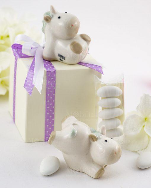 bomboniera sculturina unicorno forme assortite