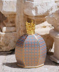 bottiglia catalitica arthur con corona collezione royal family baci milano