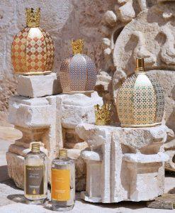 bottiglia catalitica porcellana decorata grande e piccola con ricarica royal family baci milano