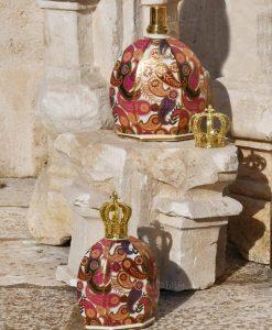 bottiglia catalitica porcellana decorata victoria collezione royal family baci milano