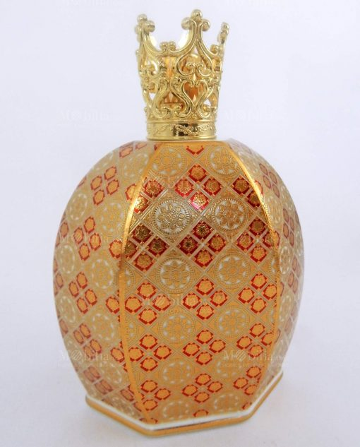bottiglia diffusore ambiente catalitica porcellana decorata louis XIV con corona baci milano royal family