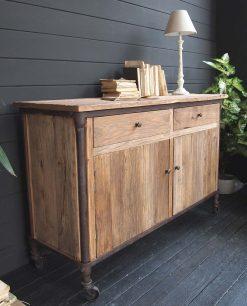 buffet vintage legno naturale e ferro