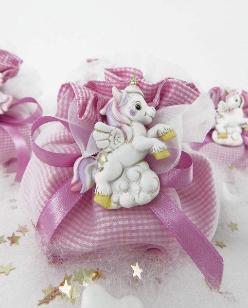 calamita unicorno coda rosa e viola