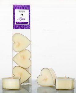 candele profumate a forma di cuore set 6