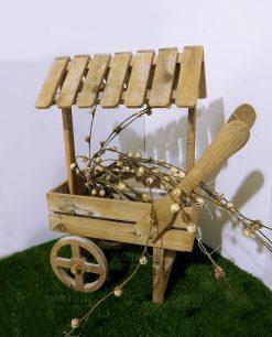 carretto espositore legno marrone 1 ripiano