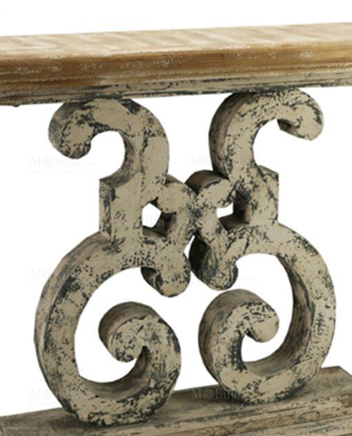 consolle legno effetto anticato