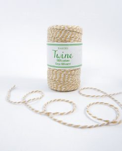 cordoncino coton juta bicolore bianco e beige 2mm